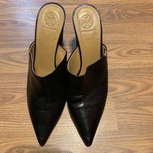 Tory Burch Penelope 90mm Mule Black Women's Sz 9M
